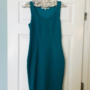Size 6 Rachel Roy Teal Fitted Dress